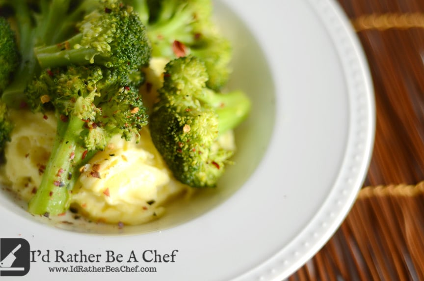 spicy broccoli with scrambled eggs