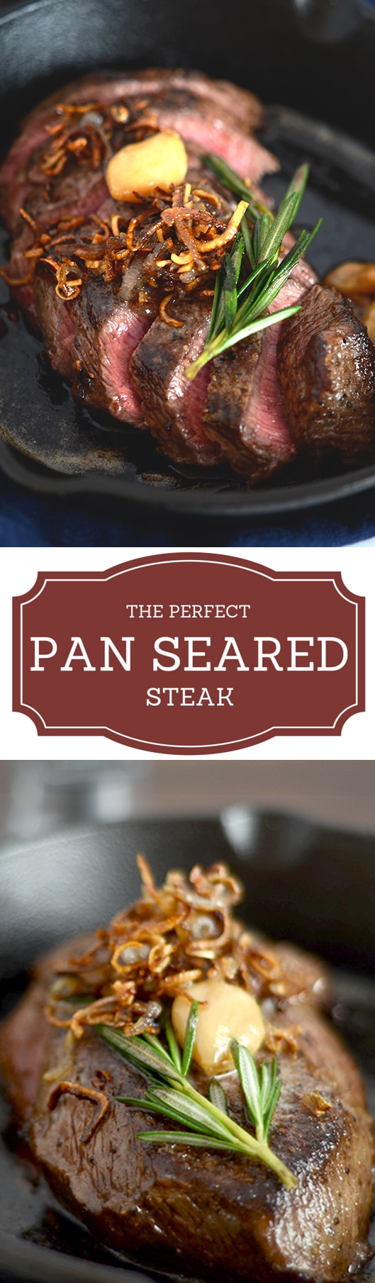 Flat Iron Pan Seared Steak Recipe I D Rather Be A Chef