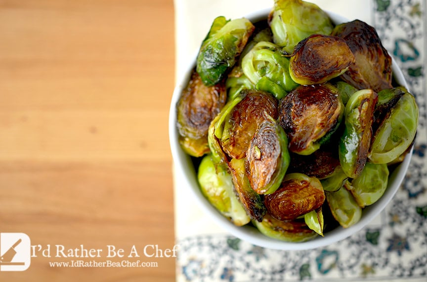 Balsamic honey roasted brussels sprouts have no right tasting just this good. Good for you too: gluten free, paleo, primal, vegetarian and low carb!