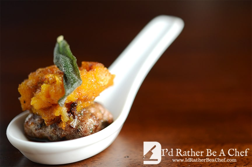 Butternut Squash and Sausage Appetizer