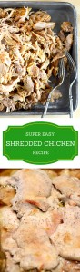 This easy shredded chicken recipe can be the base for hundreds of delicious meals!