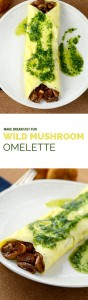 A wild mushroom omelette recipe that you'll go wild for! Topped with a fine herb (or fines herbes) sauce which pairs perfectly. So tasty. So fresh.