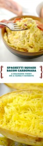 For a perfect bacon carbonara recipe, add in some caramelized onions and goat cheese. Everyone will love this!