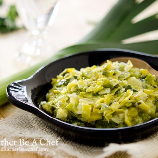 The easiest creamed leeks recipe that you will ever try. Three ingredients combine to make the most savory side dish!