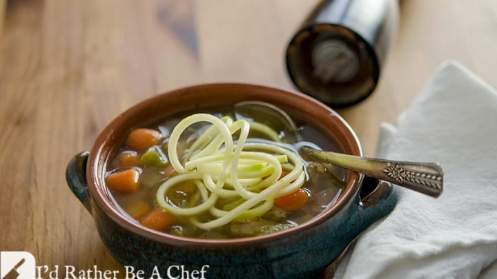 What an easy homemade chicken soup recipe... with Zoodles! This chicken soup has soul.