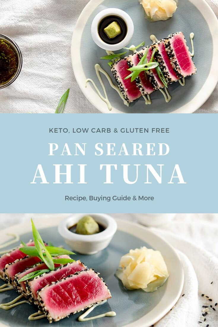 keto pan seared ahi tuna recipe pinterest