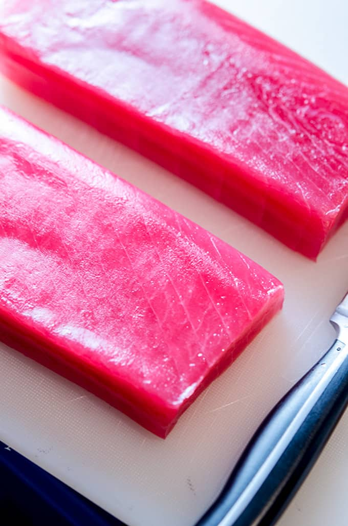 how to prepare seared ahi tuna