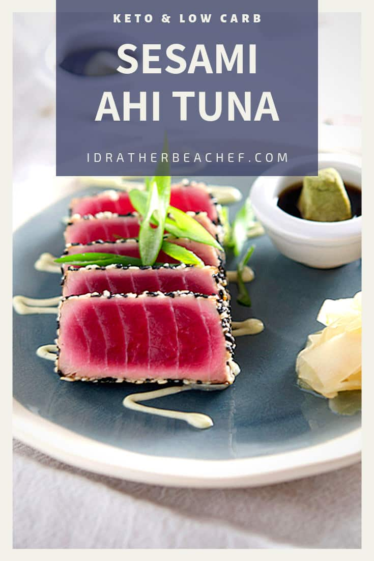 low carb sesami ahi tuna recipe pinterest
