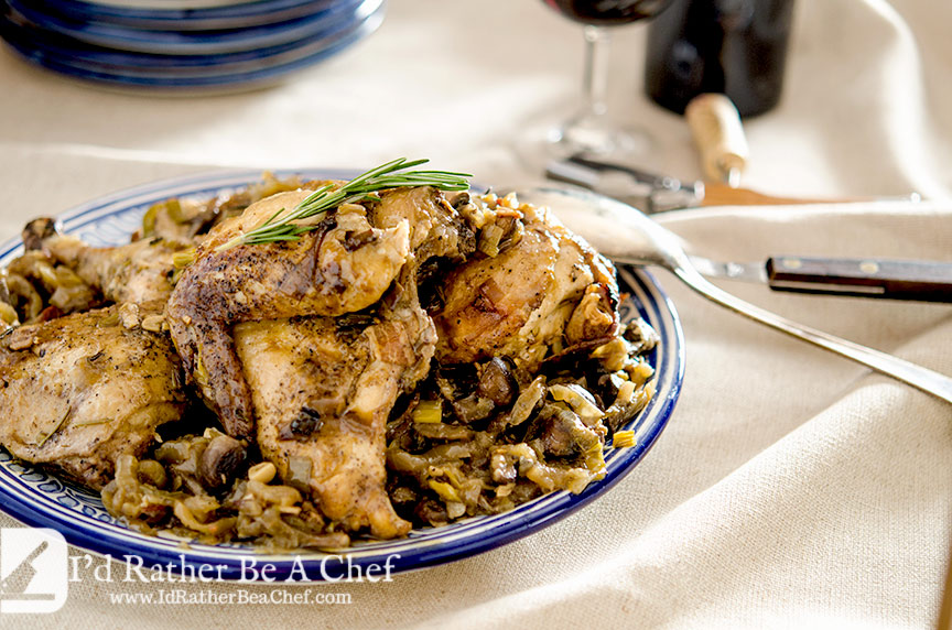 Slow cooker coq au vin is a wonderful meal to serve your family or make ahead for guests.