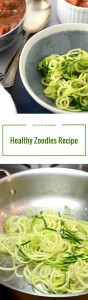 How much fun is this zoodles recipe? A ton of fun. Zucchini noodles are fast, delicious and wonderfully free of all things wheat and starch.