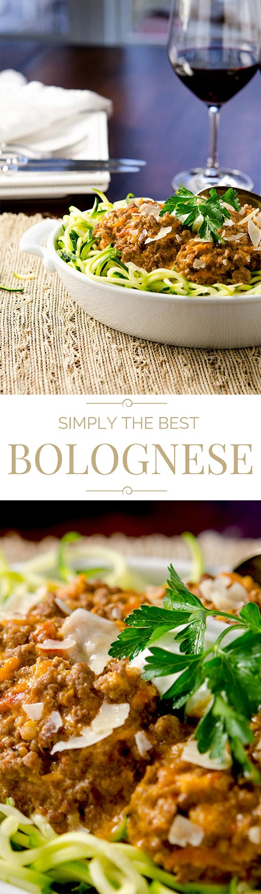 The perfect authentic bolognese sauce that is fit for your recipe box. There's a lot of love in this recipe... it would make your Grandma proud.