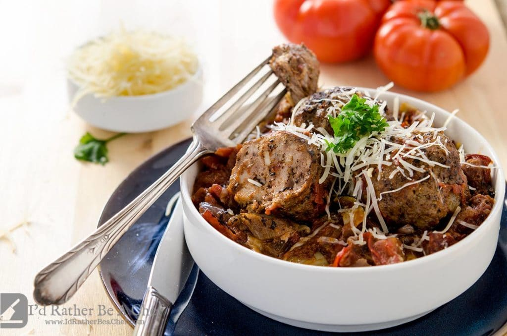 Dig into this delicious low carb meatball recipe with abandon. Made with pork and beef, these meatballs are packed full of flavor. They're also breadless meatballs!!
