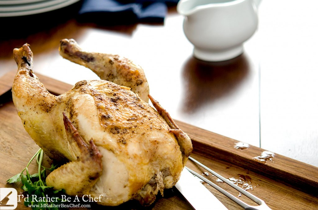 The perfect roast chicken only needs three ingredients: chicken, duck fat and seasoning. Nothing else. Ready in under an hour and perfect every time.