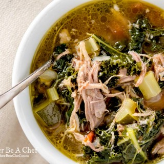 A wonderful pulled pork soup recipe that is healthy, hearty and is ready in under 30 minutes. Deliciously good for you.
