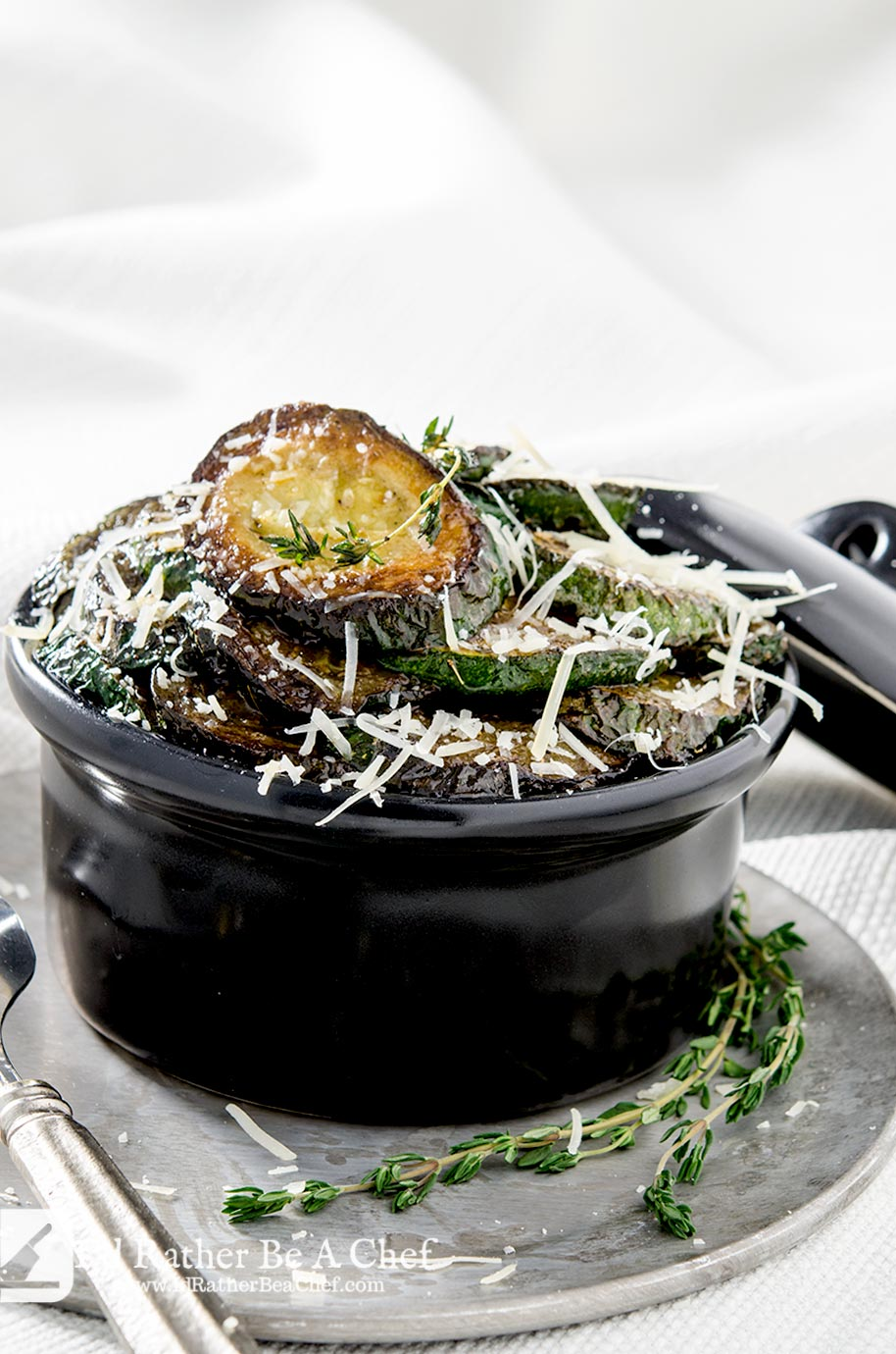 Sauteed Zucchini with Thyme | I'd Rather Be A Chef