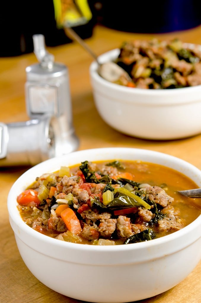Tuscan kale soup is delicious and warming to the soul. Enjoy it on a cold afternoon!