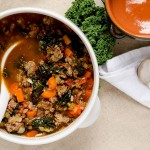 A delicious tuscan kale soup recipe that will disappear quickly once it is made!
