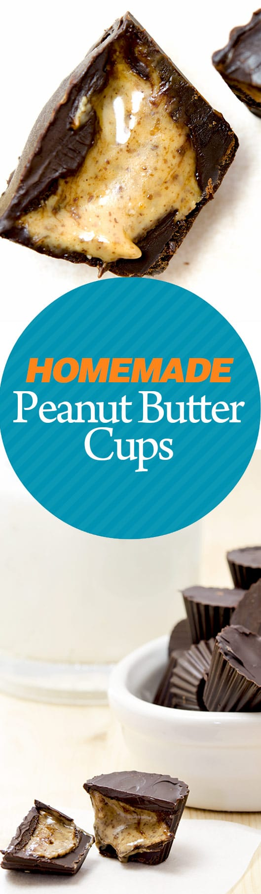 This recipe for homemade peanut butter cups is incredibly easy and results in delicious, bite sized cups of deliciousness.