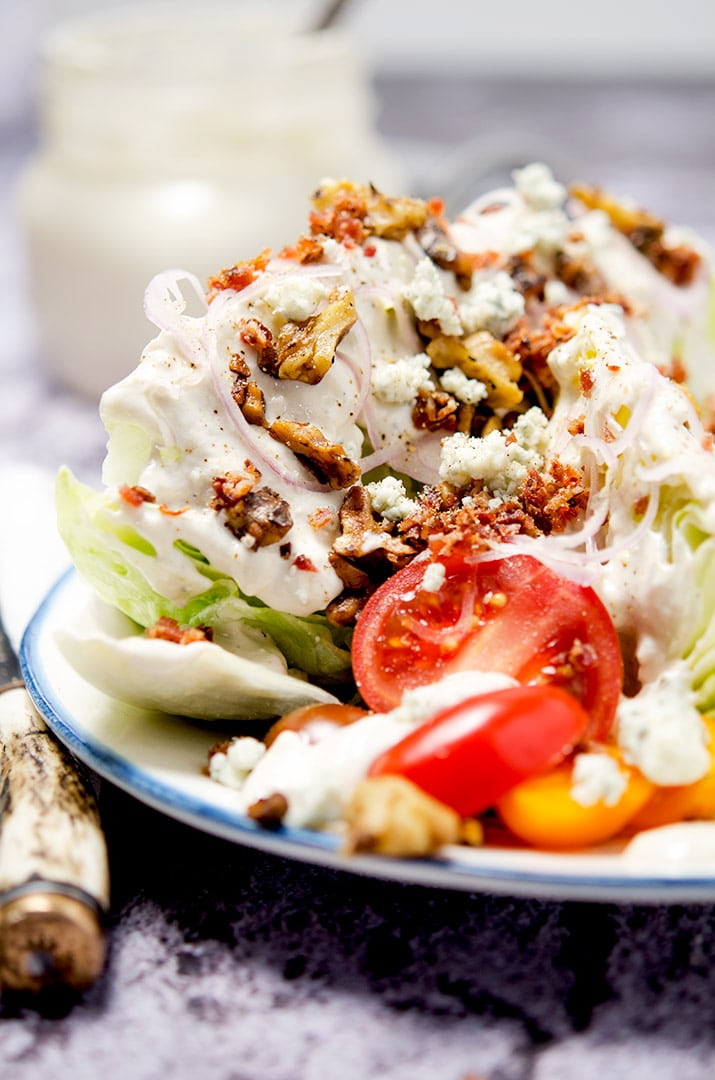 Ultimate Iceberg Wedge Salad Low Carb Keto I D Rather