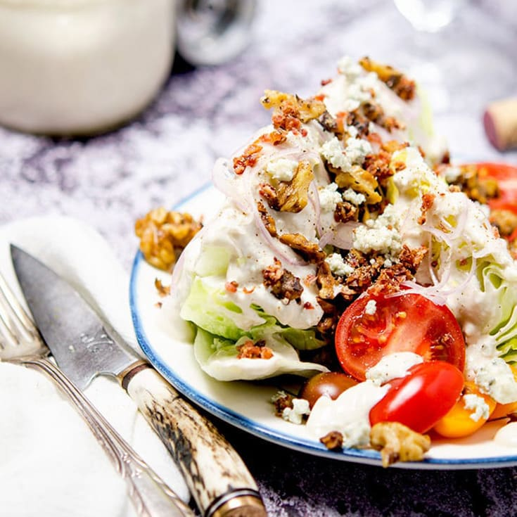 keto iceberg wedge salad
