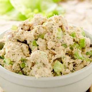 Yummy low carb tuna salad that is ready for the table in under 10 minutes.