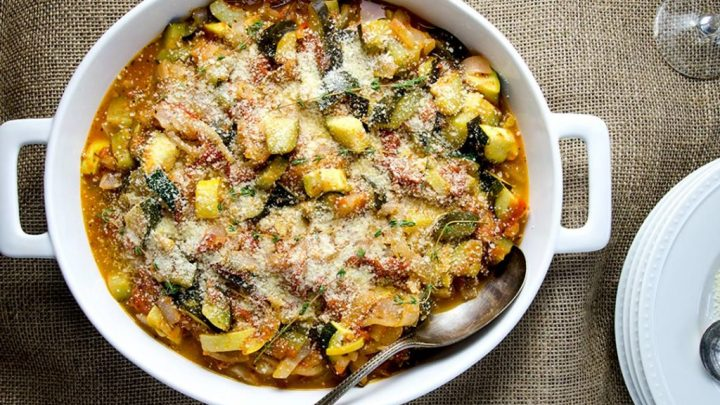 A perfectly rustic, French-style ratatouille dish to compliment any dinner. Easy to make too!