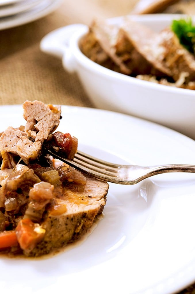 Yes please! Dig into this delicious roasted pork tenderloin dinner!