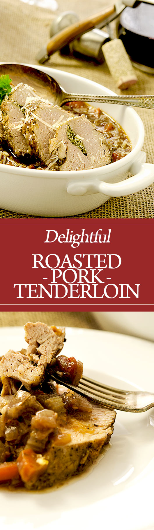 What a wonderful roasted pork tenderloin recipe. Filled with huge flavors like garlic, parsley, rosemary and more, you'll love serving this to family and friends.