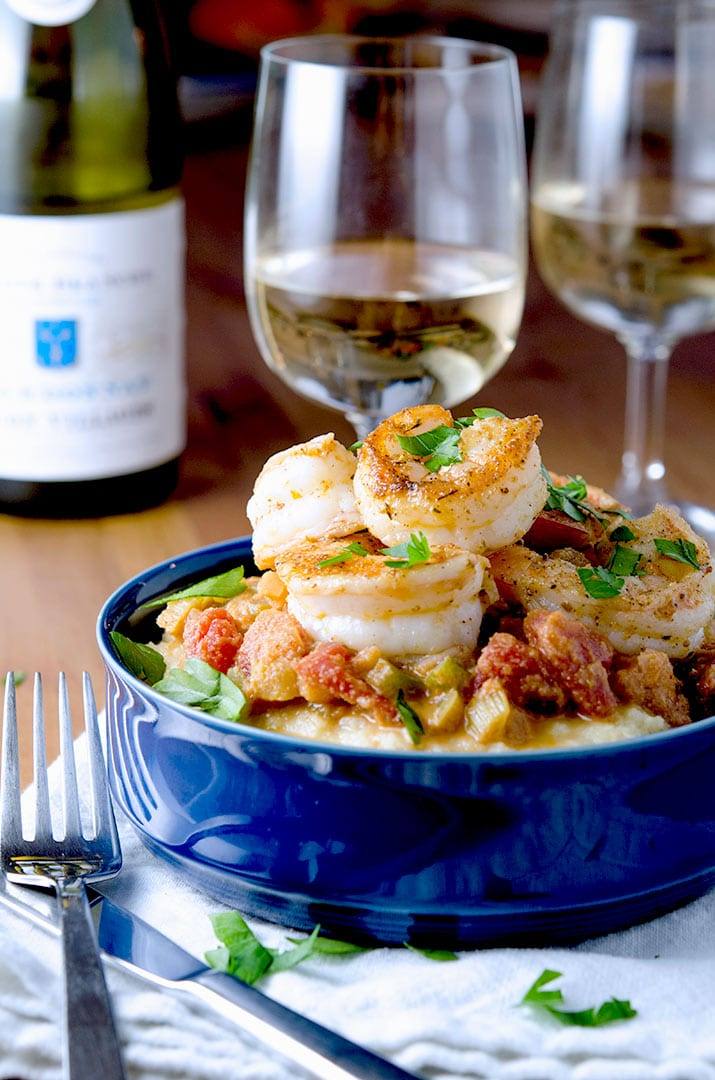 Recipe for Shrimp Creole: sassy and spicy with a perfect wine pairing.