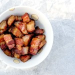 Crispy, crunchy bacon lardon makes the perfect topping for salads, potatoes or eggs in the morning!
