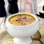 A delicious blonde French Onion Soup Recipe that warms the soul. Perfect for spring or fall, this recipe has it all!