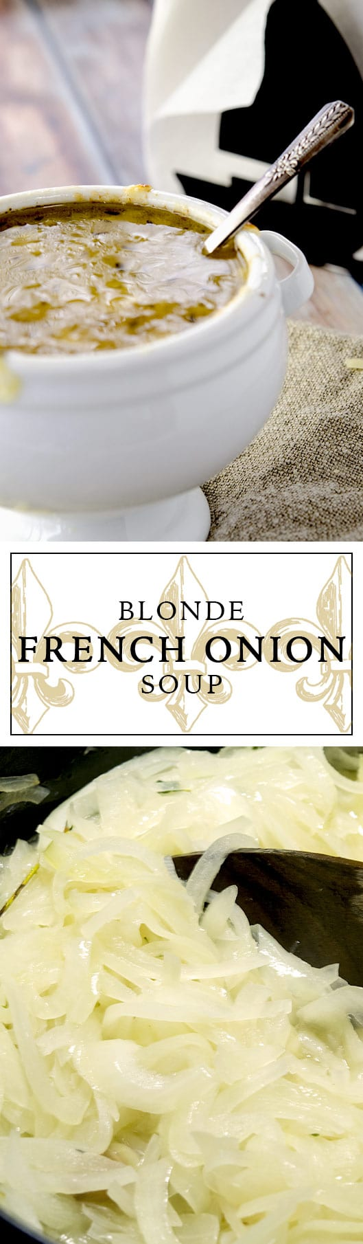 A delightful play on a traditional French Onion Soup Recipe. Come see why this one is blonde!
