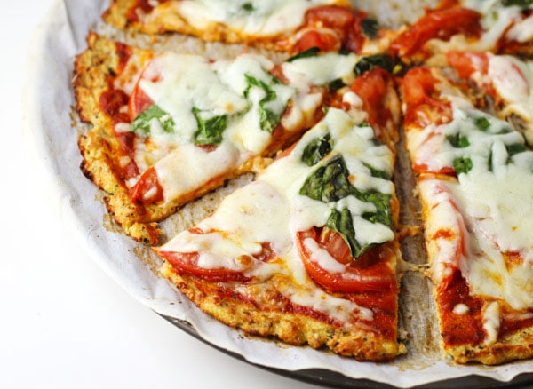 Pizza is normally off the low carb dinner recipes lists... but with a cauliflower crust it is just delightful.