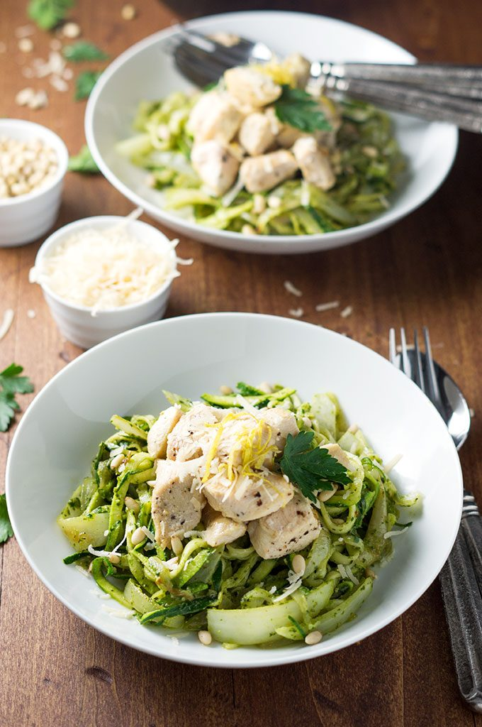 Pesto with zoodles and chicken? Awesome. This is a winning combination and a great addition to the low carb dinner recipes roundup.