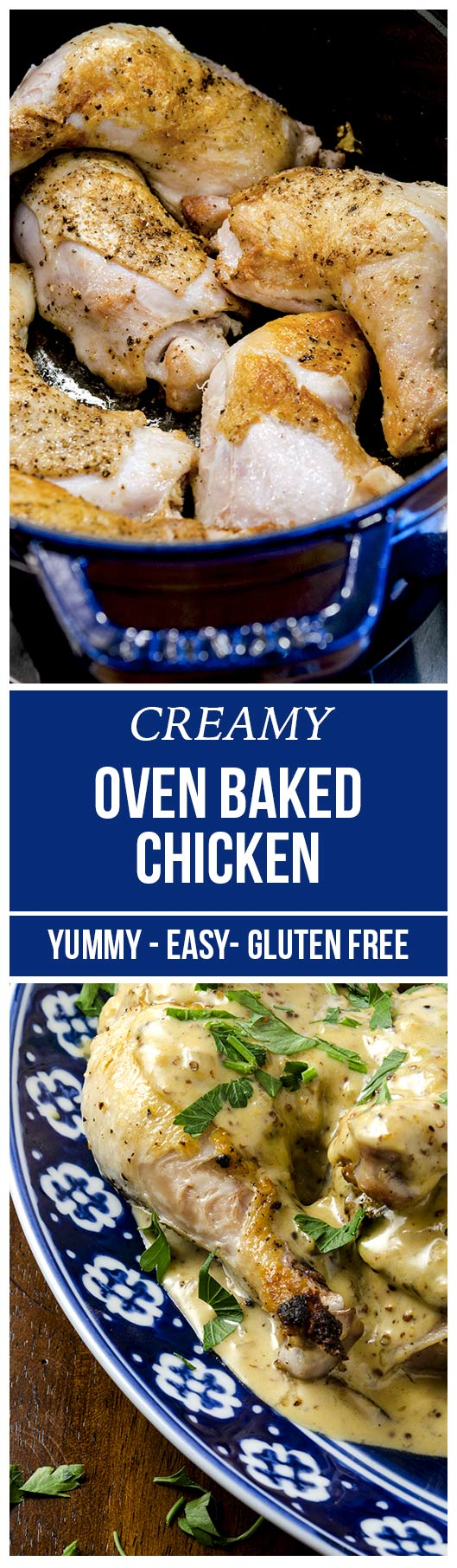Creamy Oven Baked Chicken Legs Recipe