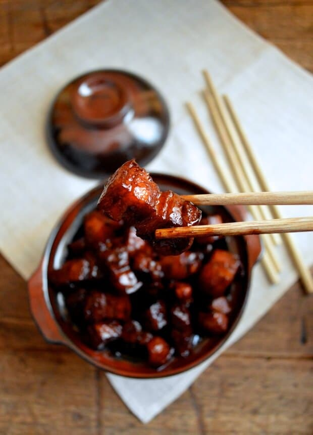 Delicious Shanghai Style Braised Pork Belly for our Pork Belly Recipes Roundup