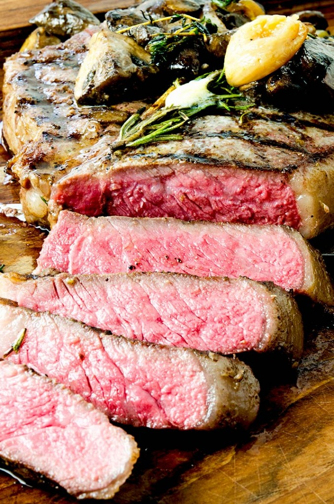 Cooking porterhouse steak sous vide makes the meat tender and delightful.