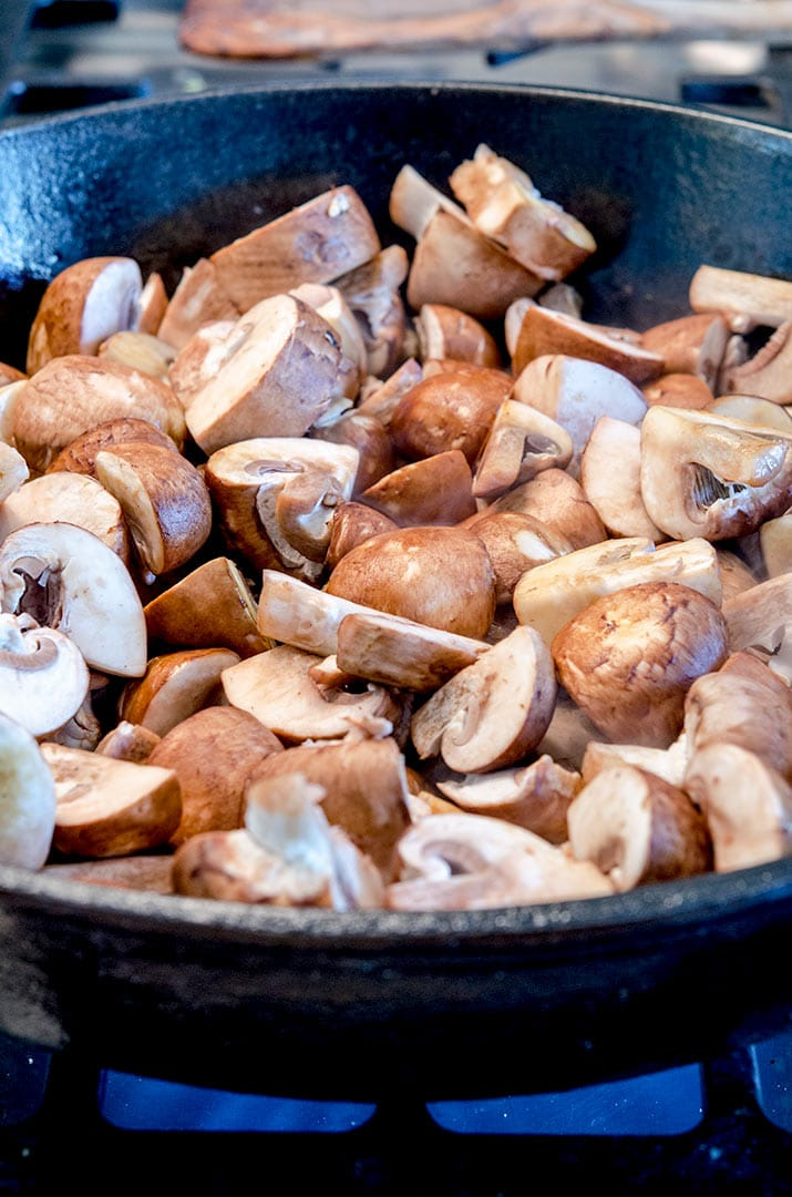 A simple sauteed mushrooms recipe where we brown the mushrooms and then season them.