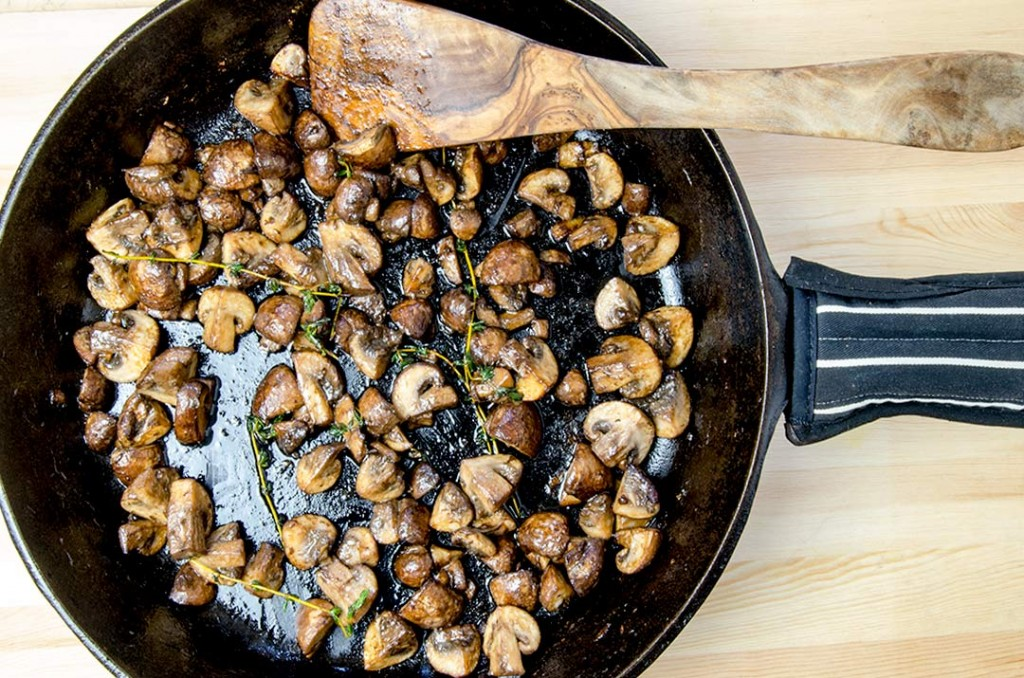 Roasted Garlic Sauteed Mushrooms