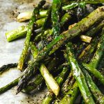 Roasting asparagus with brown butter and balsamic intensifies the flavors to mythical proportions.