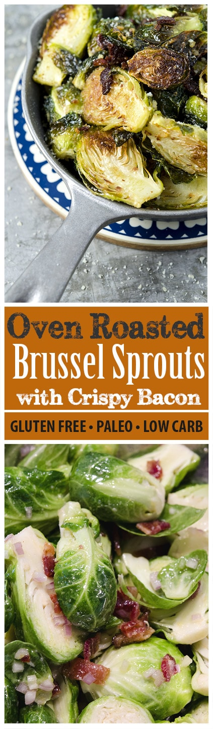 This is one delicious recipe for roasted brussels sprouts with bacon, shallots and garlic. The flavor combination is outstanding!