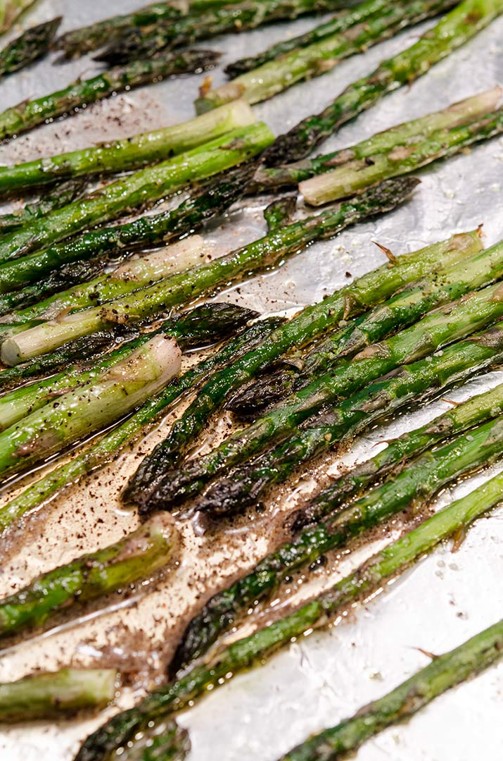 Roasting asparagus in the oven is a wonderful way to enhance the flavor of asparagus. Pair it with brown butter balsamic sauce to elevate even further!