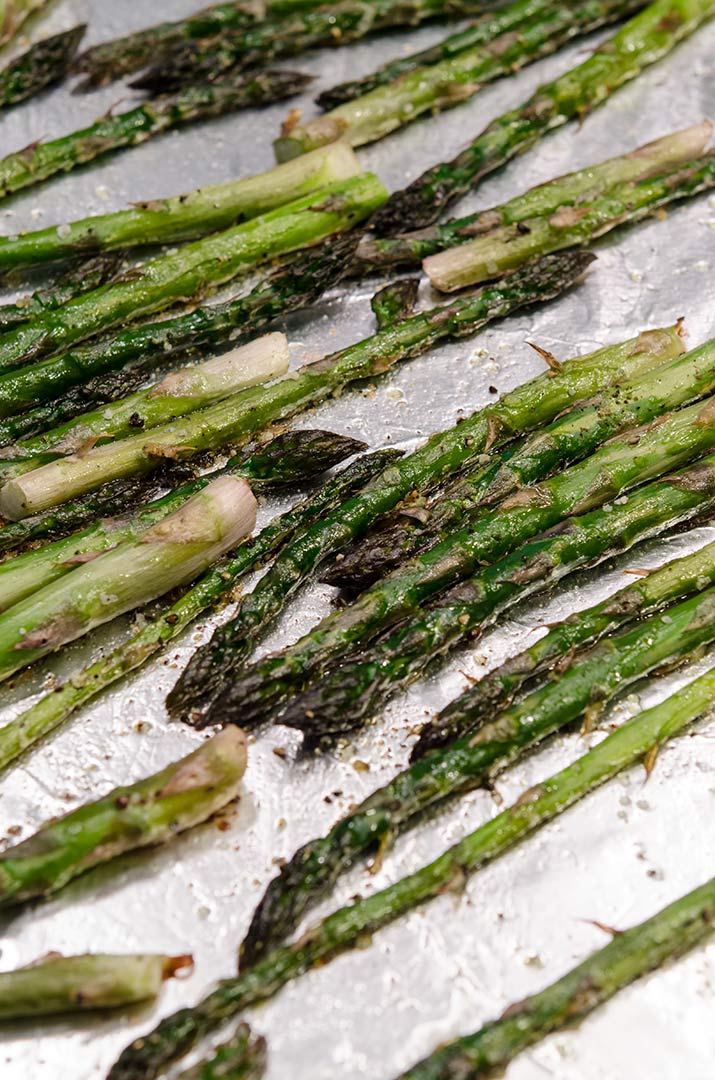 Roasting asparagus takes just a bit of time in the oven, and is the perfect vegetable side dish for just about any meal.