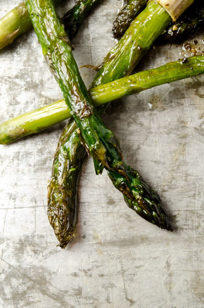 Roasting asparagus results in a simple, elegant and delicious side dish.