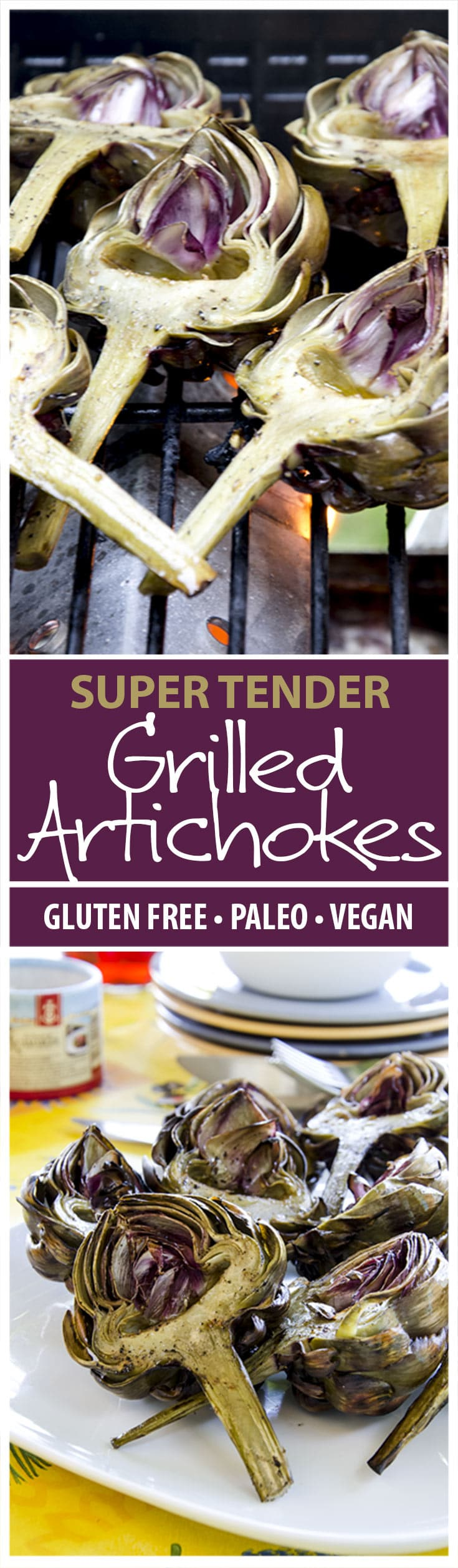 Learn how to make the most tender and delicious grilled artichokes with this recipe. My step-by-step guide will get these delightful artichokes from grill to table in no time flat!