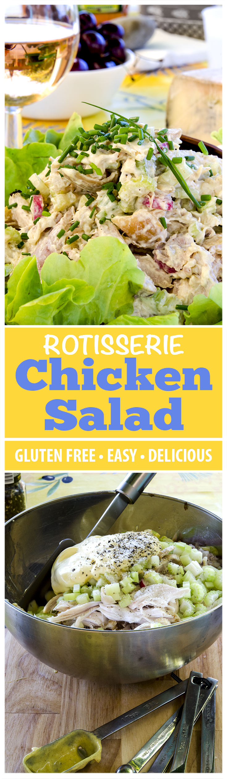 The best rotisserie chicken salad recipe... and super easy too. Find out how to wow all your friends and family with this delicious recipe.