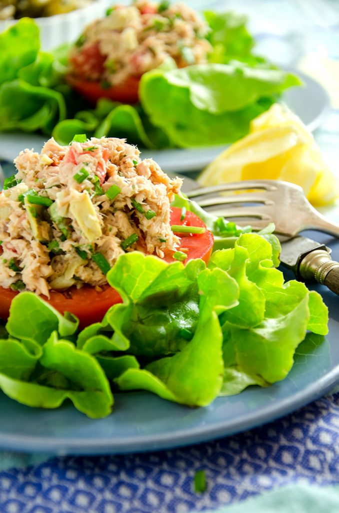 A delightful tuna salad that is perfect in a sandwich or mixed with a lightly dressed green salad. Delicious.