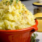 Smashed potatoes are a delightful side dish that are perfect for any grilled or sauteed meats.