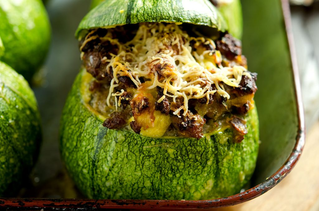 Stuffed Zucchini Breakfast Feast