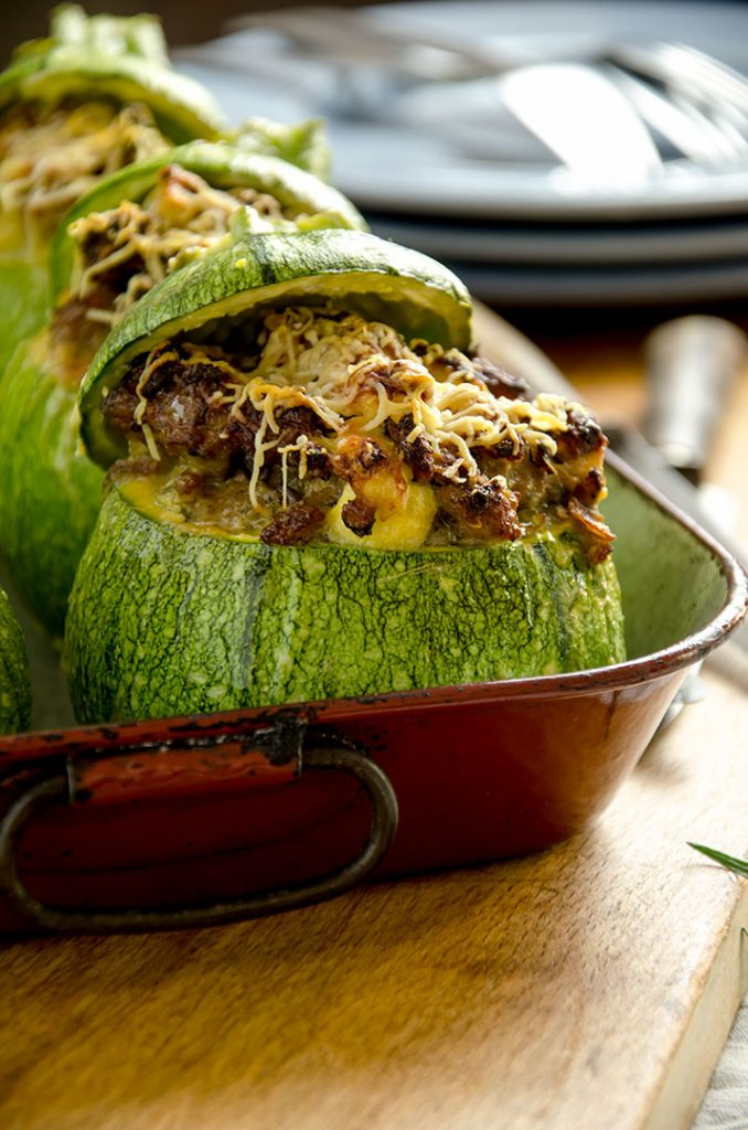 Making stuffed zucchini takes a little bit of time... but like most meals that take time they are absolutely delicious.